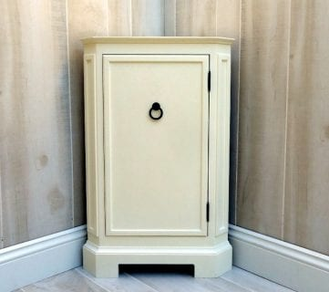 How to Build a Catalog Inspired Corner Cabinet