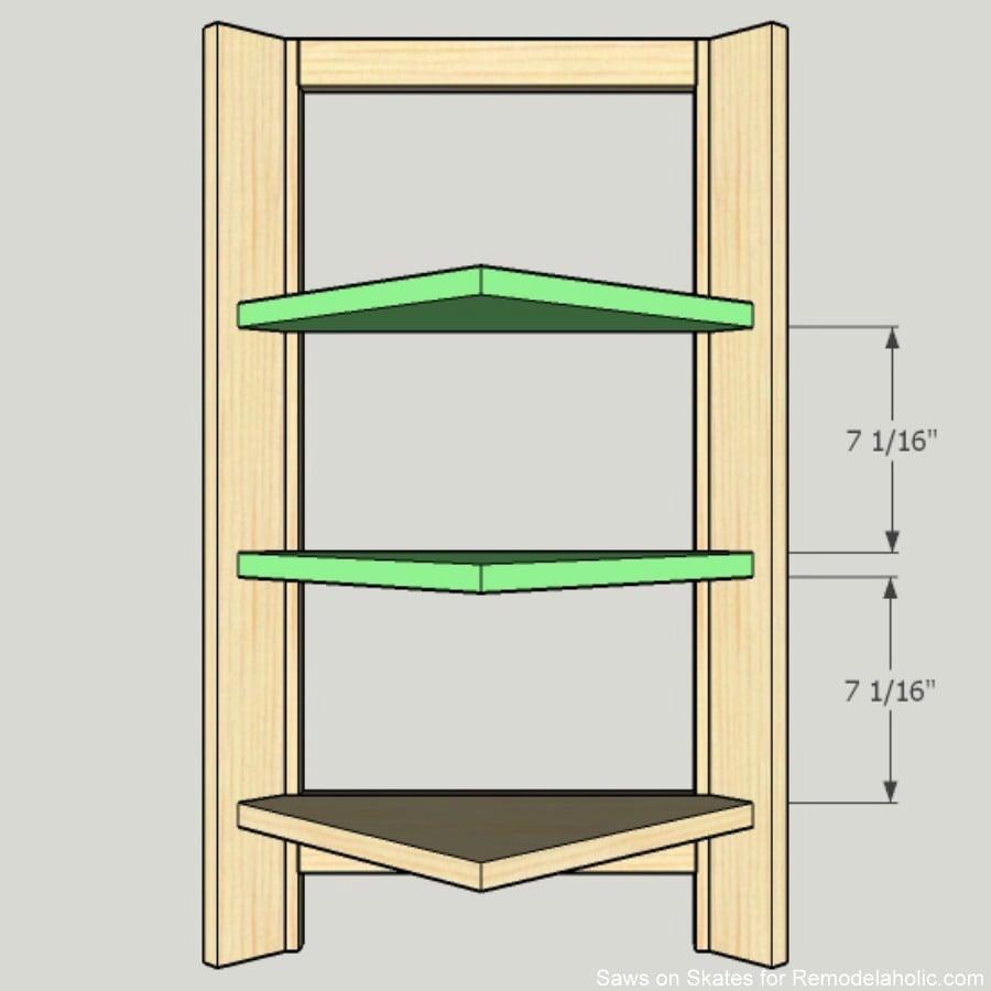 corner-cabinet-saws-on-skates-shelf-installation