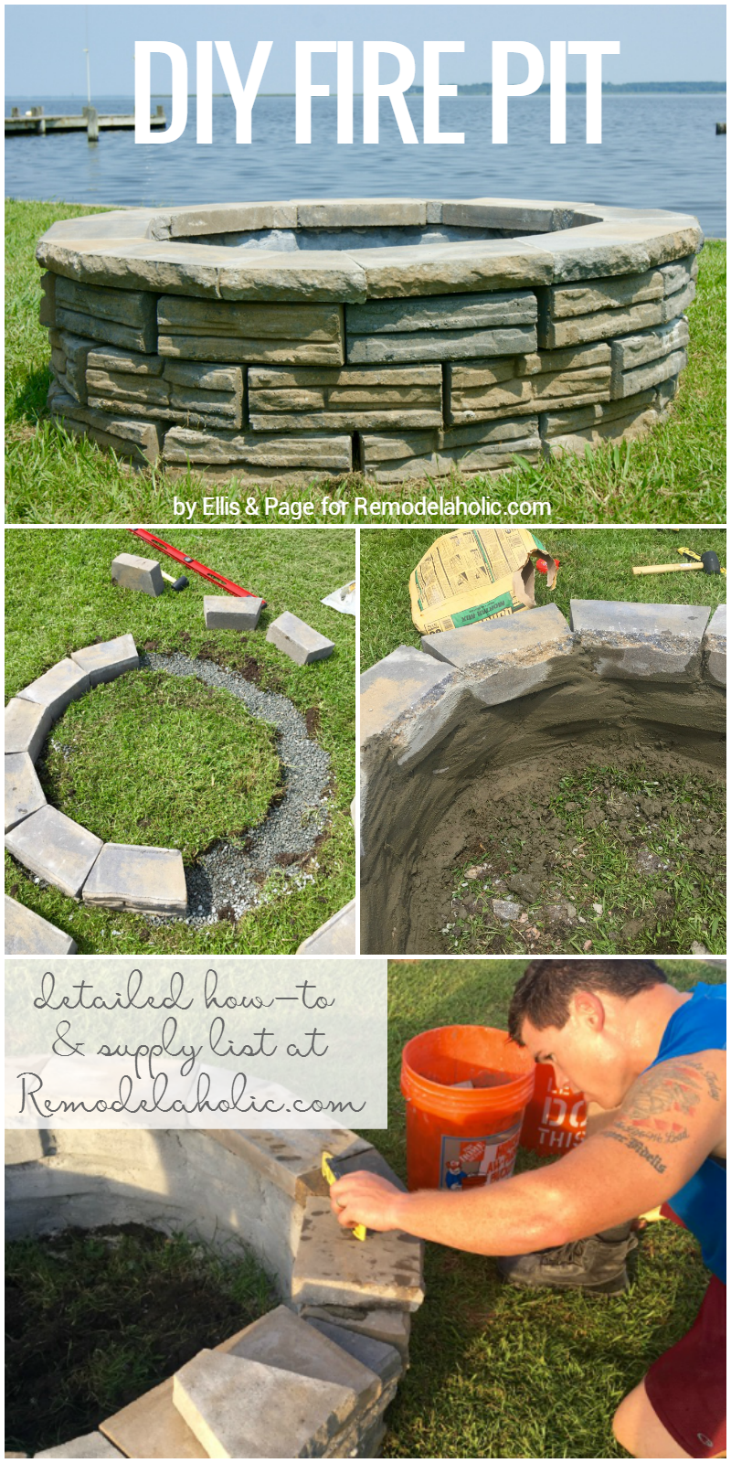 Remodelaholic | DIY Retaining Wall Block Fire Pit