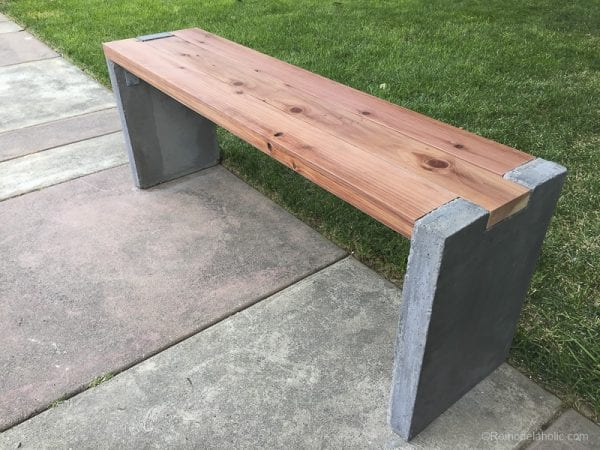 DIY Outdoor Woodworking Projects: Redwood and Concrete Bench Plans