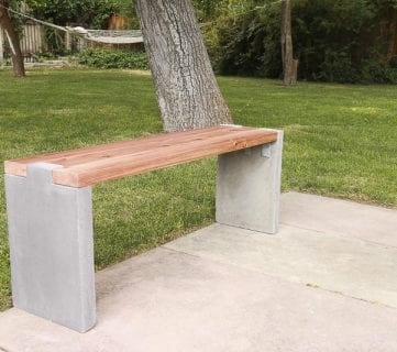 Modern Concrete and Redwood Bench Tutorial