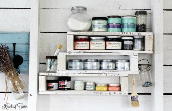 DIY Pallet Shelf 16 clever organization pallet hacks featured on remodelaholic.com