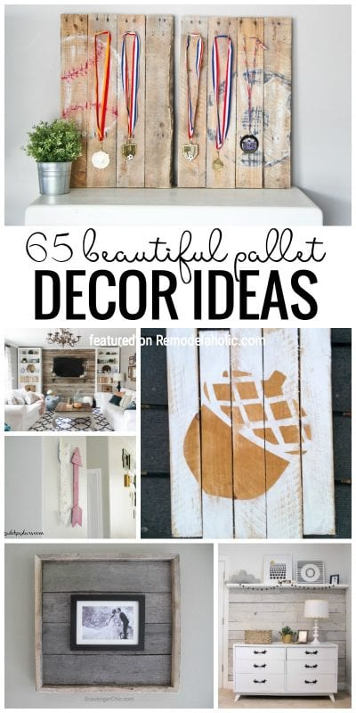 Remodelaholic 65 pallet decor ideas for Diy pallet home decor