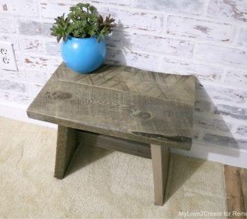 DIY Reclaimed Wood Stool