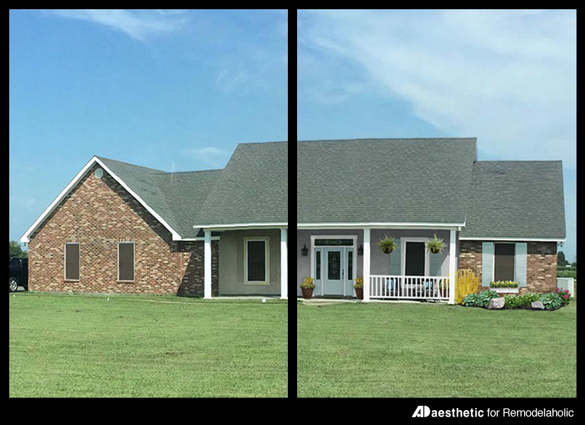 remodelaholic adding curb appeal the blank slate brick ranch