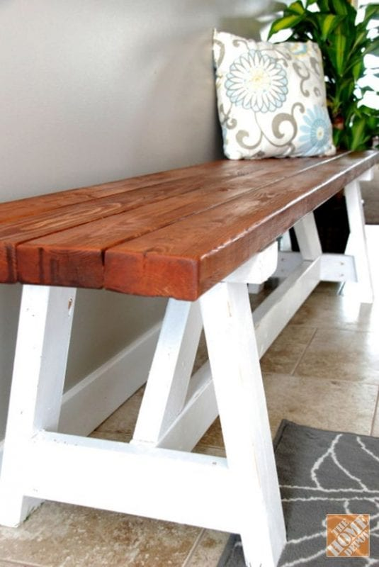 Built In Benches In Almost Anywhere Of A Home: 15 Fixer Upper DIY Projects