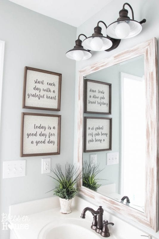 Fixer Upper DIY Typography Sign_Bless'er House