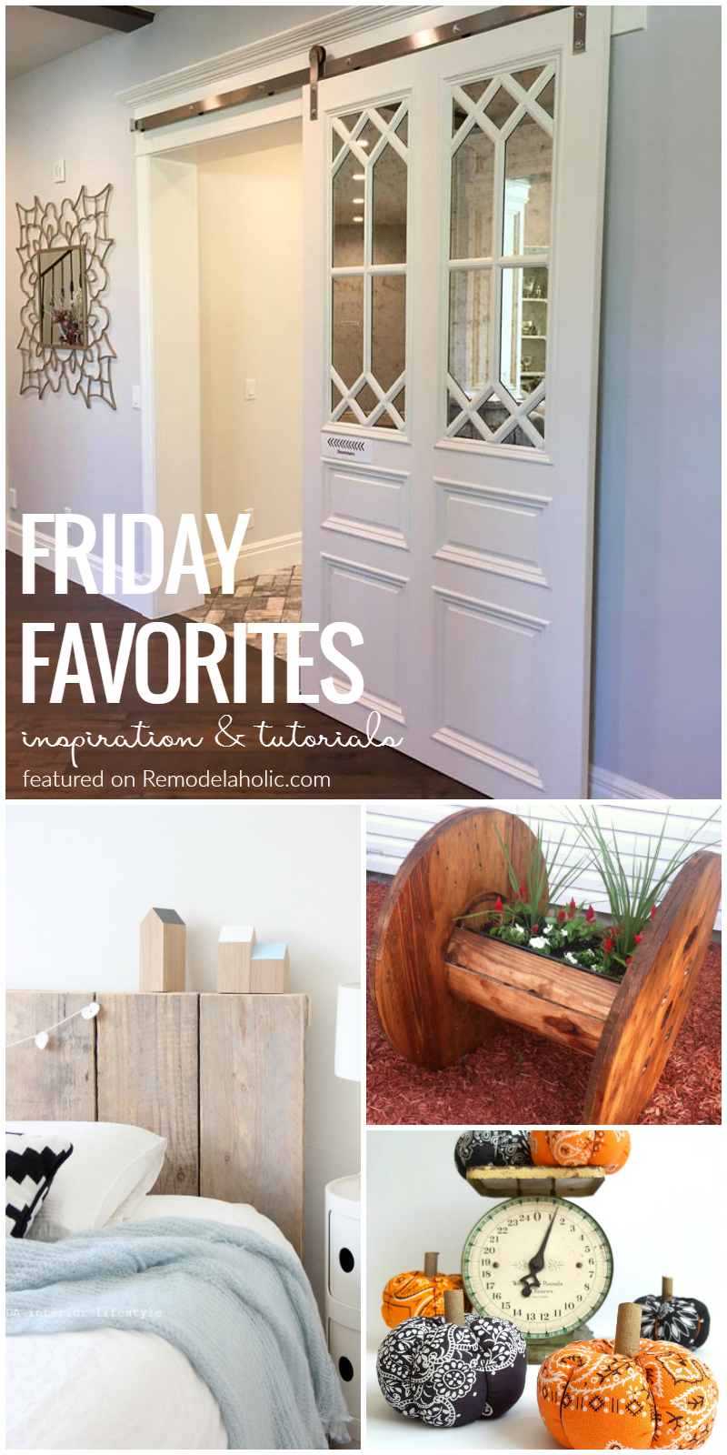our favorites this week a beautiful rolling barn door diy pumpkins for decor indoors