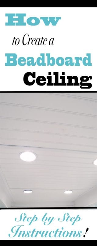How To Install A Basement Beadboard Ceiling To Replace A Drop Ceiling   Tutorial from Provident Home Design on Remodelaholic.com