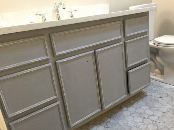 Painting Bathroom Cabinets Gray remodelaholic | chalk paint® bathroom vanity makeover!