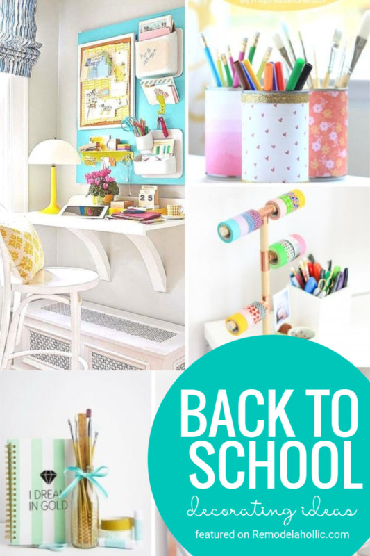Lots Of Ideas To Star The School Year With A Touch Of Festive Decor! Back To School Decorating Ideas Featured On Remodelaholic.com #backtoschool #decorating #backtoschoolideas #fall