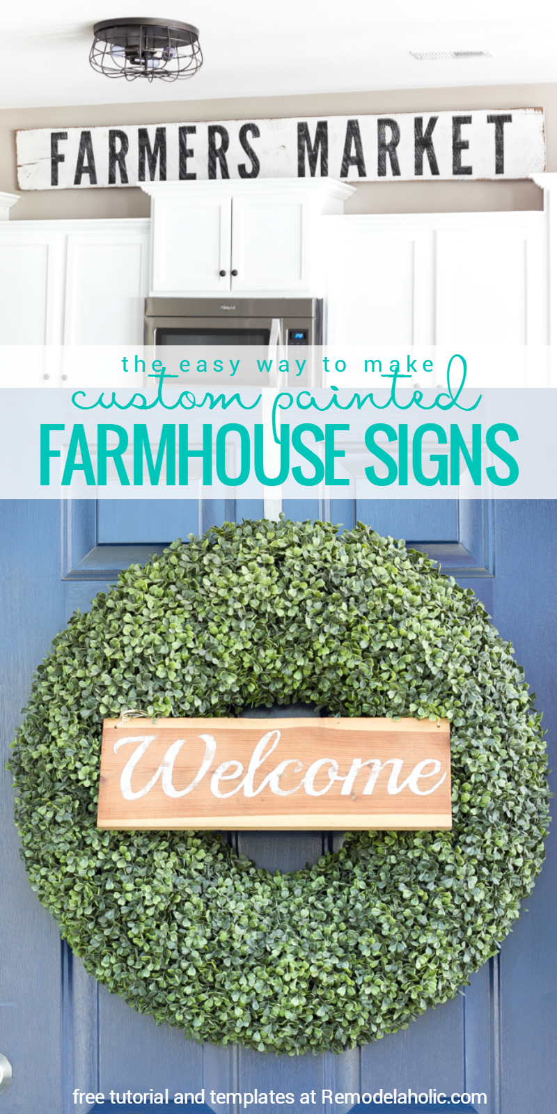 Easy Way To Contour Your Face: How To Make Painted Farmhouse Signs The
