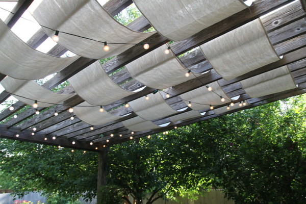 Sail Cloth DIY Outdoor Shade From Anything Pretty On Remodelaholic