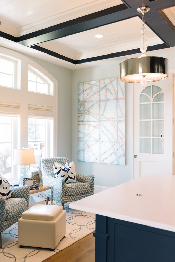 Tips for choosing a whole home paint color | Wall color is Cool Breeze by Benjamin Moore. | More paint colors and tips at Remodelaholic.com