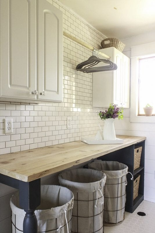 beautiful-rustic-laundry-room-with-diy-wire-laundry-baskets-twelve-on-main