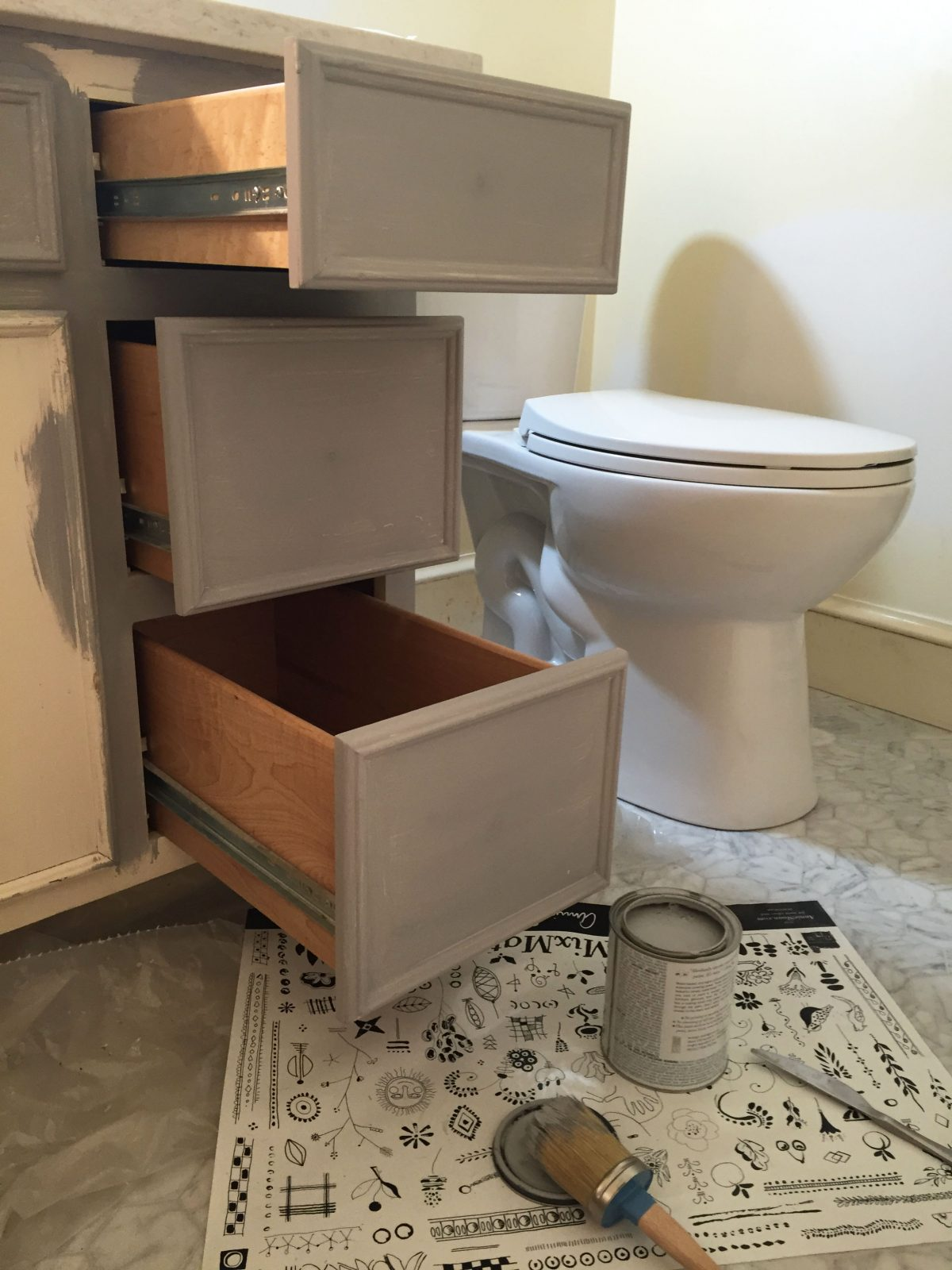 Chalk Paint® Bathroom Vanity Makeover (and Full Bath Renovation