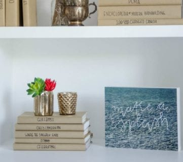 Afternoon Bookshelf Refresh with DIY Paper Book Covers