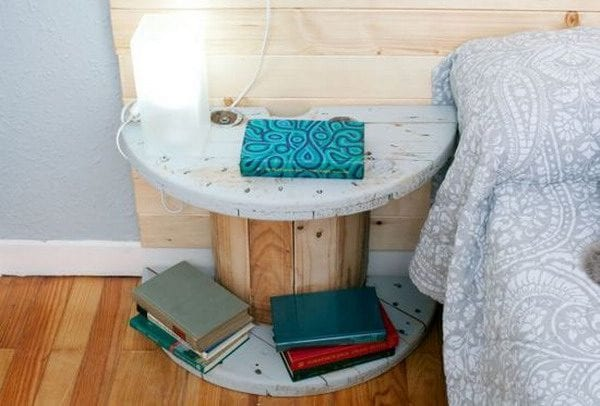 large-wooden-cable-spool-cut-in-half-to-make-a-bedside-table-original-source-unknown