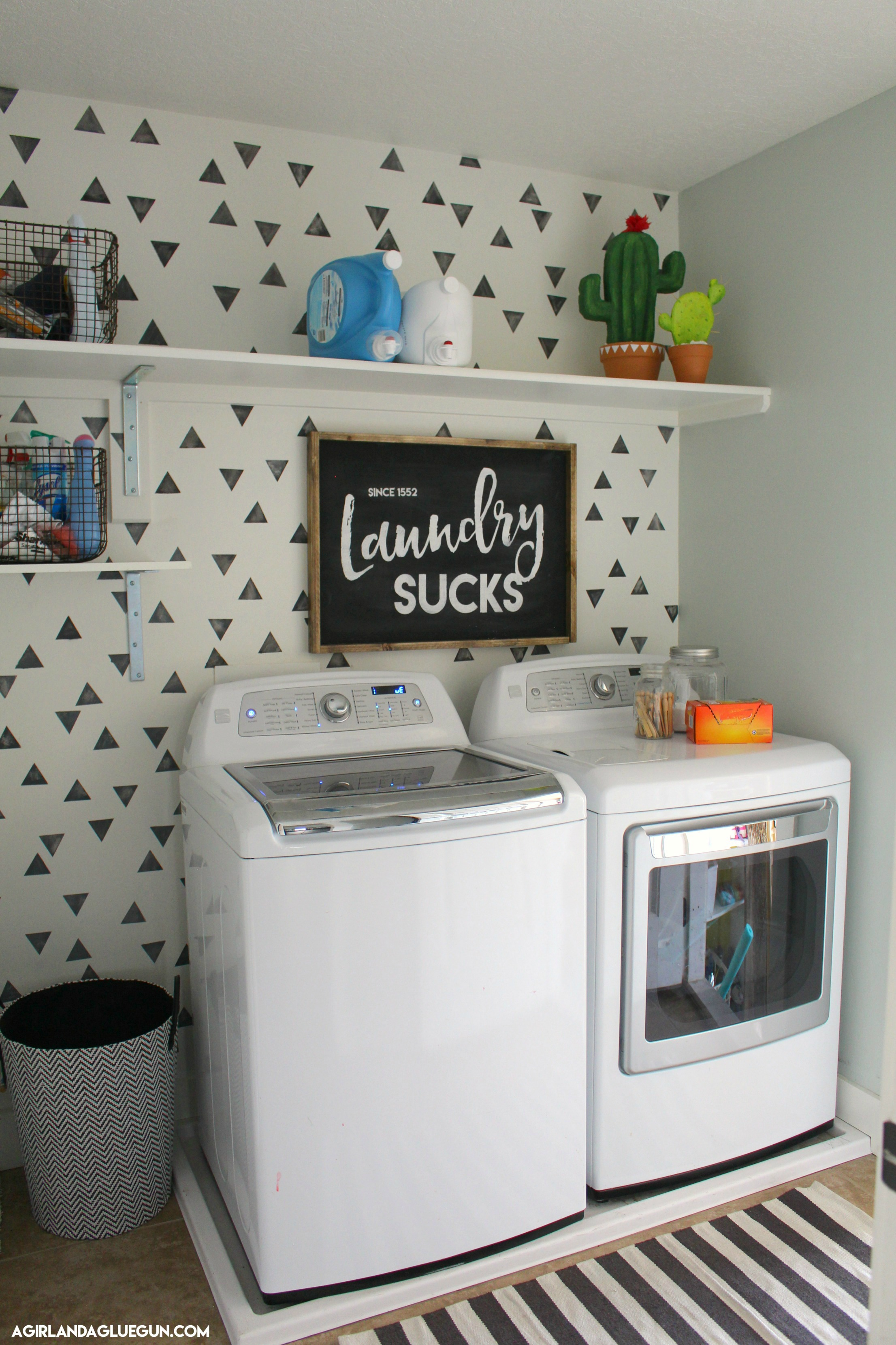 Remodelaholic friday favorites non traditional fall - Laundry room wall decor ...