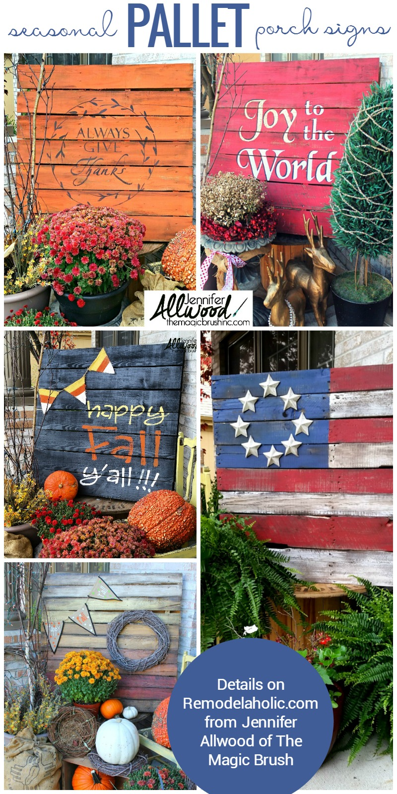 Remodelaholic Diy Painted Pallet Porch Sign