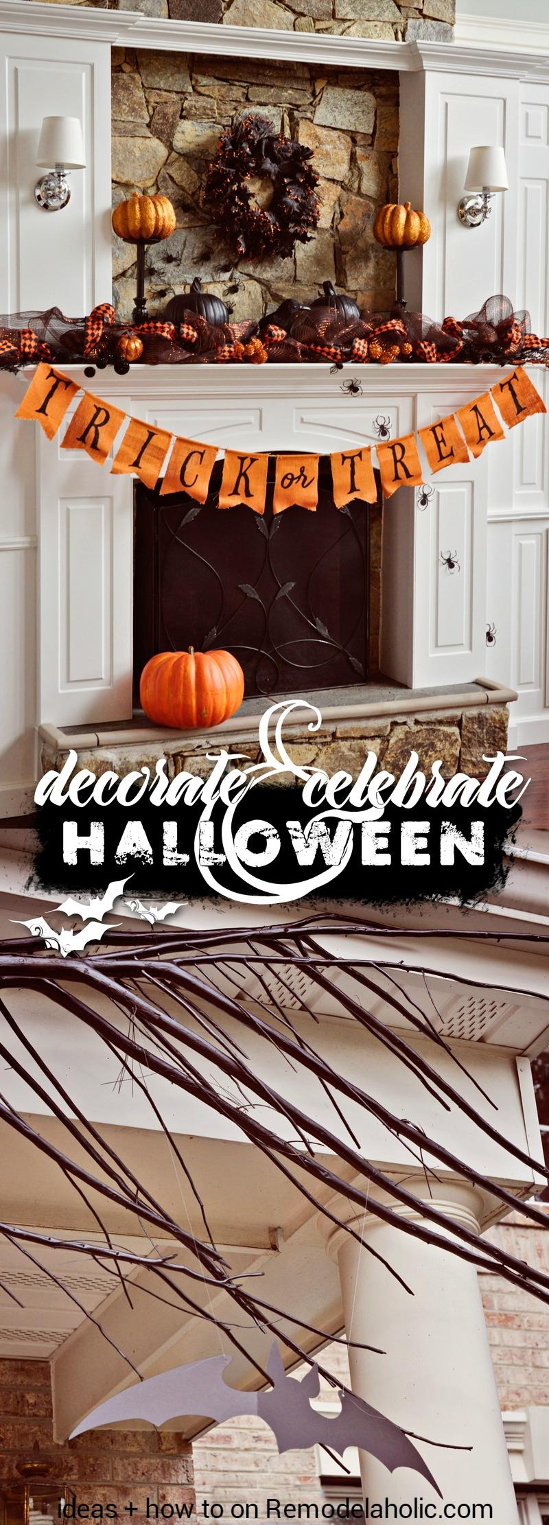 Remodelaholic Decorate &amp Celebrate: Simple Halloween Decor - Basic Halloween Decorations