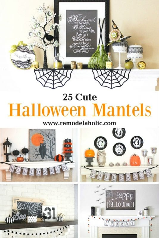 25 Cute Halloween Mantels Featured On Remodelaholic.com