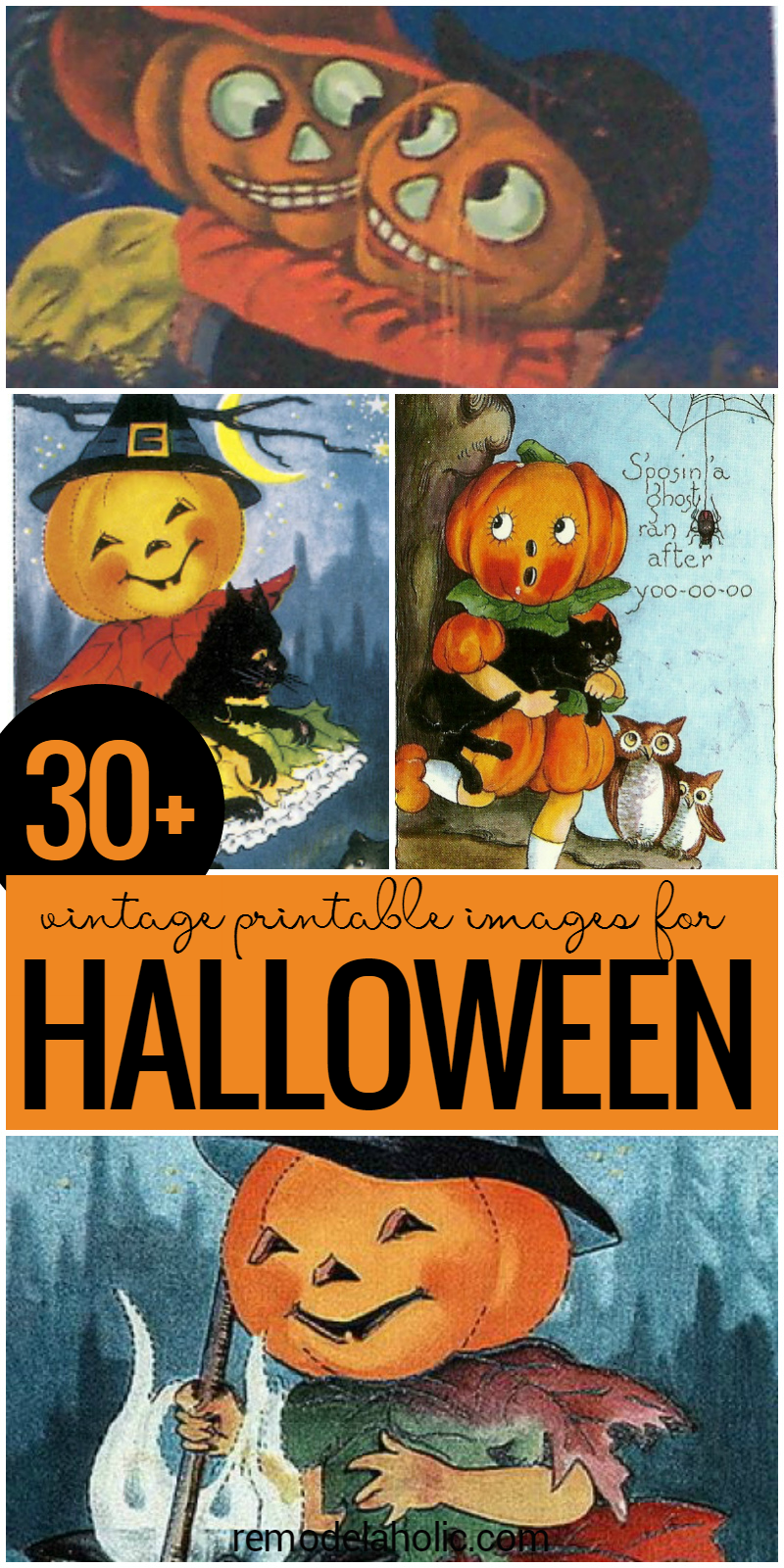 Remodelaholic 30 free printable vintage halloween images - Where can i buy halloween decorations ...