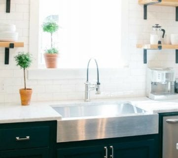 6 Design Elements of a Fixer Upper Kitchen + DIY Options