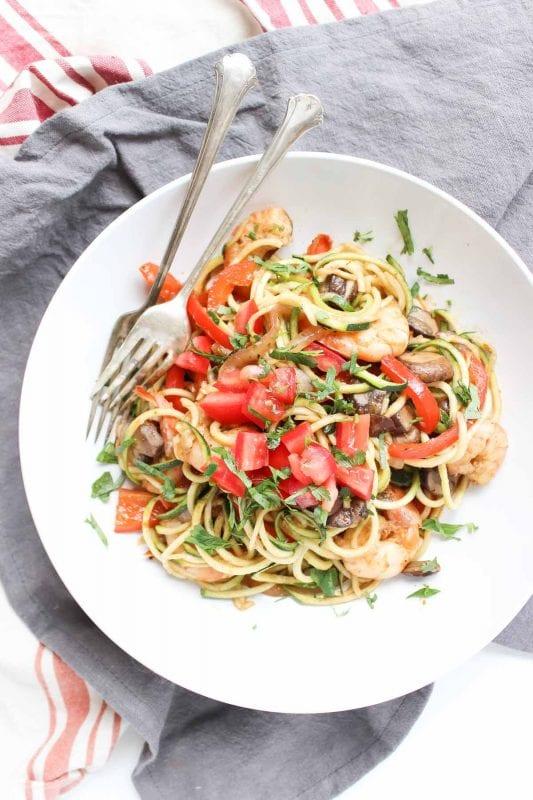 cajun shrimp zucchini pasta