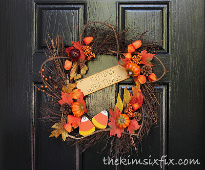 Candy Corn Fall Wreath The Kim Six Fix