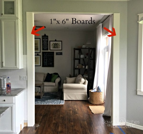 Casing A Doorway For Remodelaholic.com