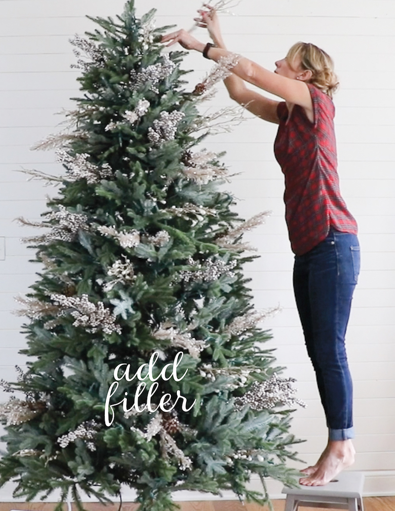 how to decorate a christmas tree in just five steps a beautiful well - Christmas Tree Filler Decorations