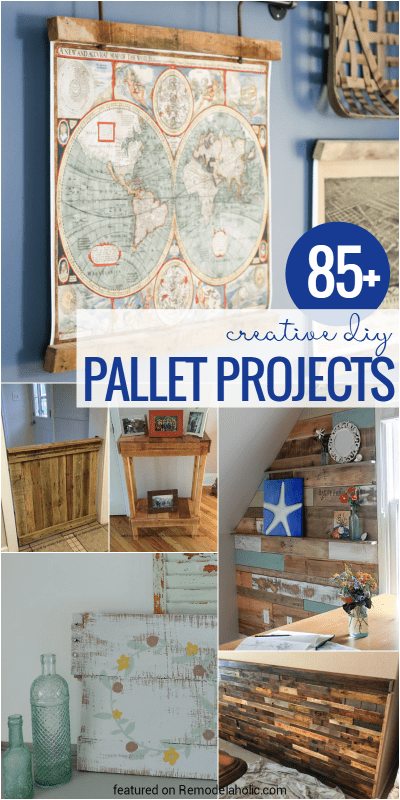 Looking for a great pallet project? Try one of these 85 DIYs! And yes, you could use other old wood or new wood, too ;) See all the ideas at Remodelaholic.com
