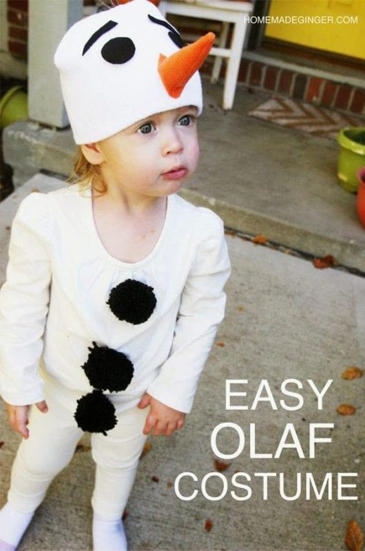Easy DIY Olaf Costume