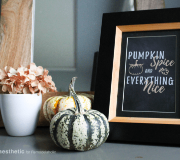 Fall Printable • Pumpkin Spice Everything Nice • AD Aesthetic For Remodelaholic Horizontal