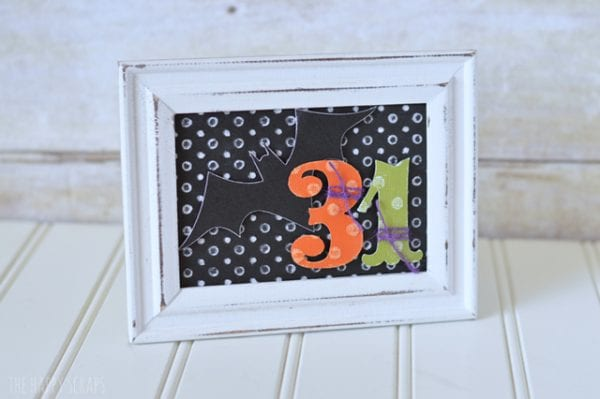 Framed Halloween Decor The Happy Scraps