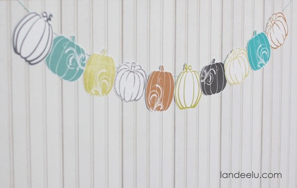 Fresh Fall Pumpkin Garland
