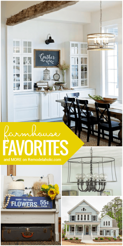 Friday Favorites: Farmhouse Style And More Beautiful DIYs and Inspiration at Remodelaholic.com