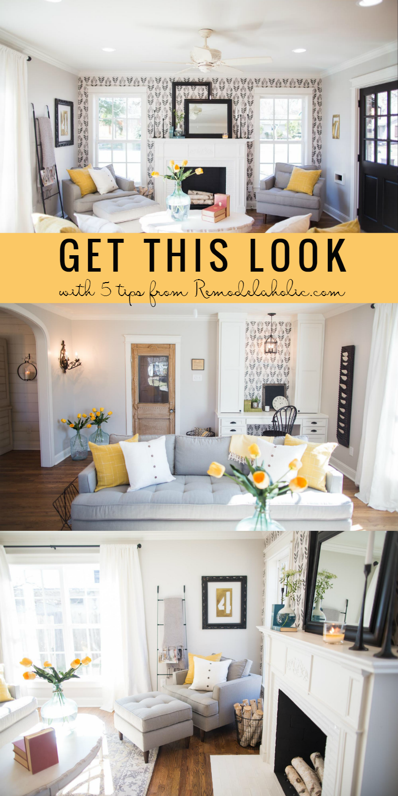 remodelaholic | get this look: contemporary farmhouse living room