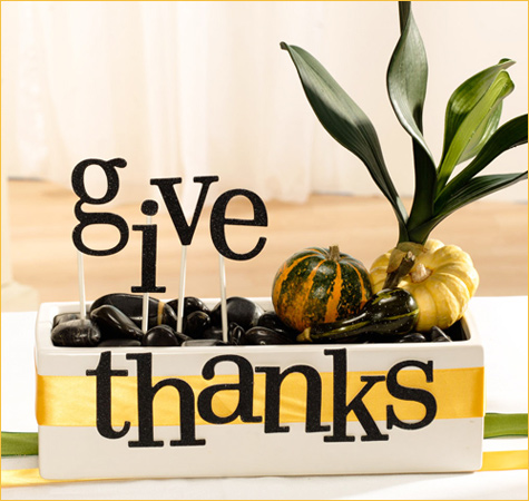 Give Thanks Thanksgiving Centerpiece Hwtm Remodelaholic