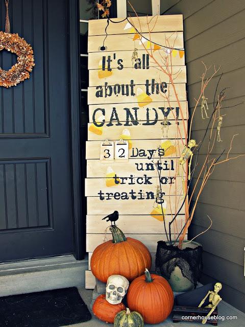 Halloween Countdown Porch Decor