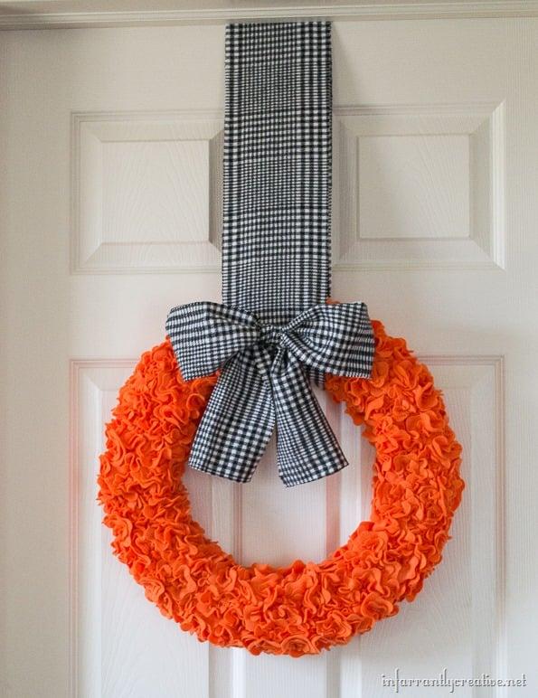 Halloween Ruffle Wreath