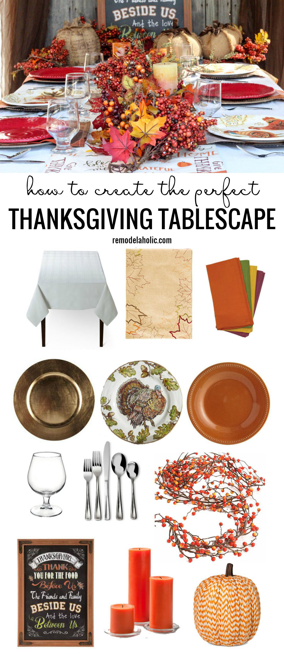 How To Create The Perfect Thanksgiving Tablescape Remodelaholic