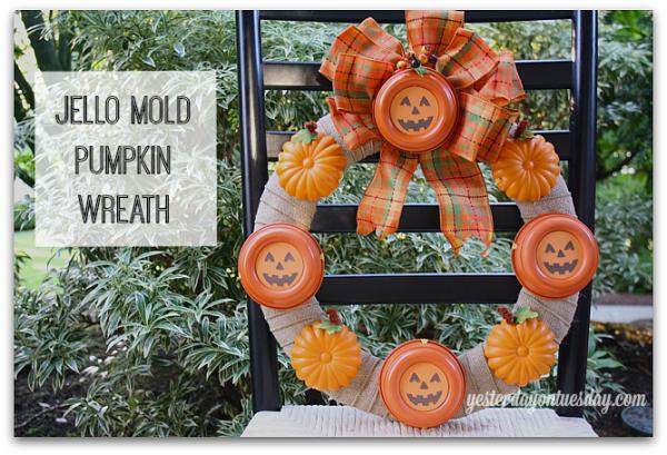 Jello Mold Halloween Wreath