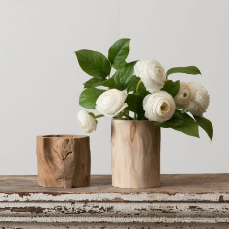 Log Vase Magnolia Market DIY