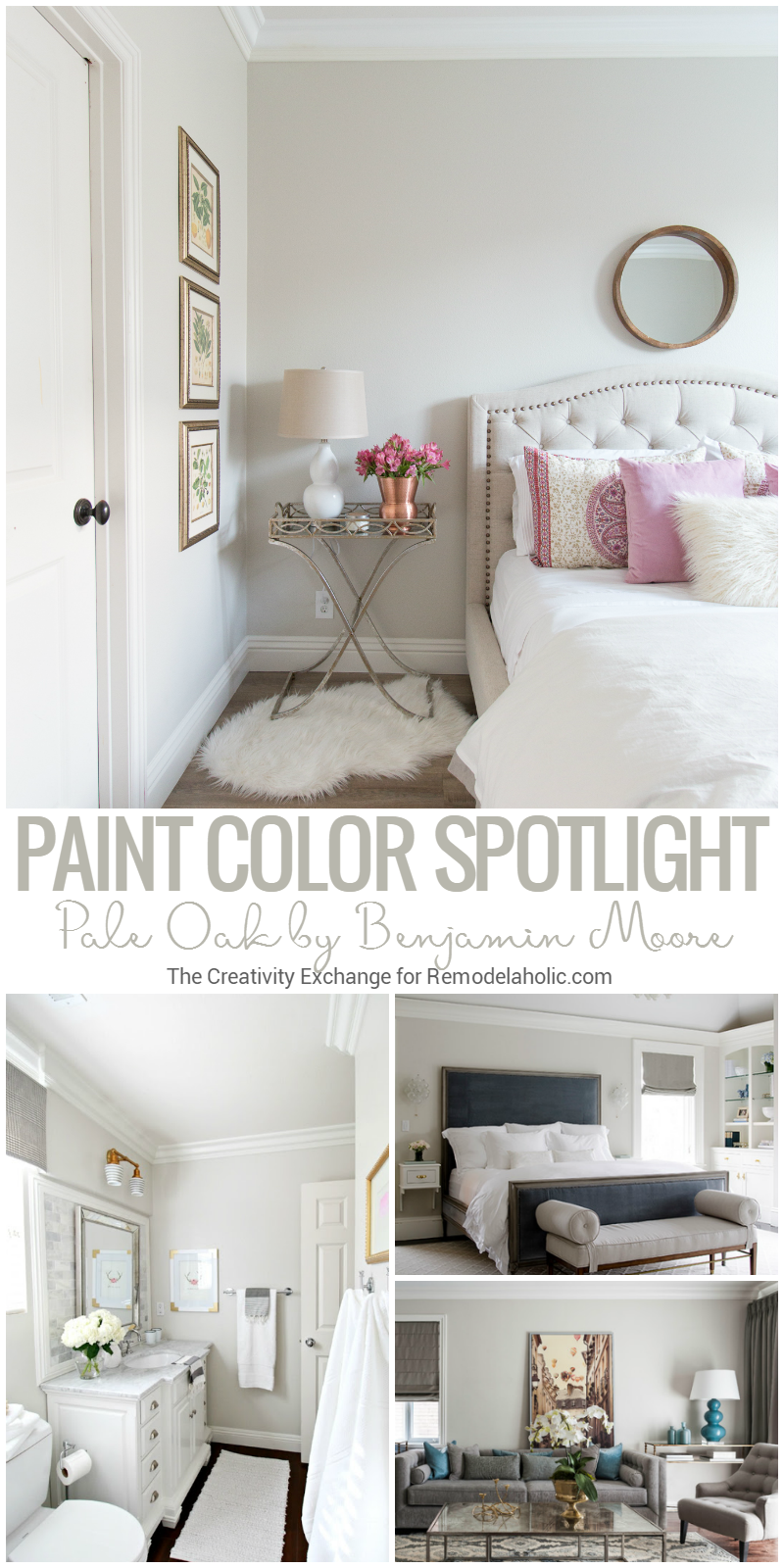Remodelaholic color spotlight benjamin moore pale oak for Warm neutral grey paint
