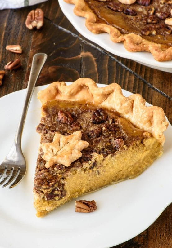 Perfect Pumpkin Pecan Pie. The Best Of Pumpkin Pie And Pecan Pie Rolled Into One Plus How To Bake Perfect Pumpkin Pie That Wont Crack Or Burn Well Plated