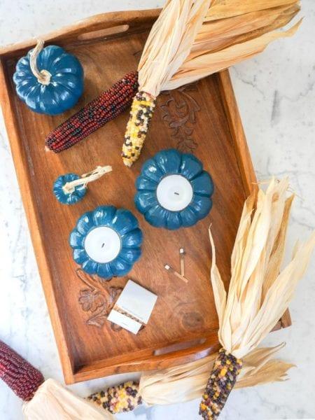Pumpkin Votives Thanksgiving Centerpiece Francois Et Moi Remodelaholic