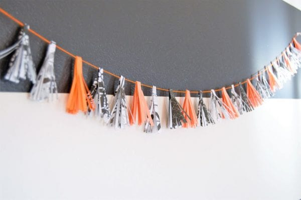 Simple Paper Tassle Garland Mommy Cusses