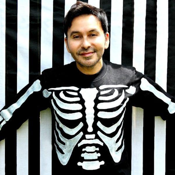 Skeleton T Shirt Costume
